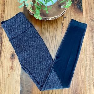 Lululemon Revereible Heathered Grey Leggings